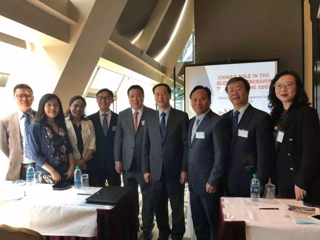 中国扶贫基金会走进联合国